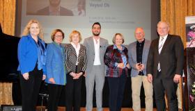 Verleihung des Thomas-Dehler-Preises (v.l.n.r. Hirsch, Will, Bock, Ok, Leutheuser-Schnarrenberger, Niebrügge, Hacker)